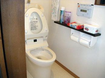 とりあえず洋式のトイレを一新。清潔感溢れる空間に。
