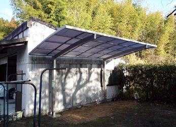 雨風から守る屋根カーポート設置。