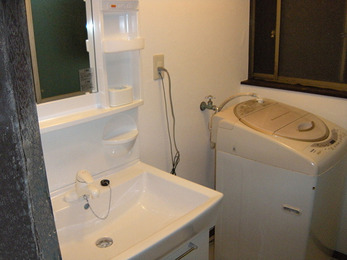 洗面器も大きく、使い易くなりました。
