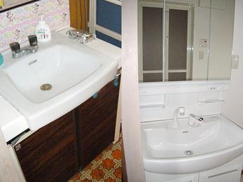 器が大きい洗面台で、使い易くなりました。