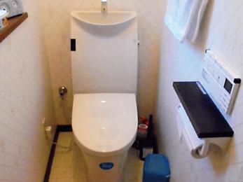 グレードアップしたトイレ。以前との違いがはっきり!