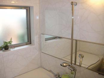 冷たいタイル風呂が暖か空間に変身!