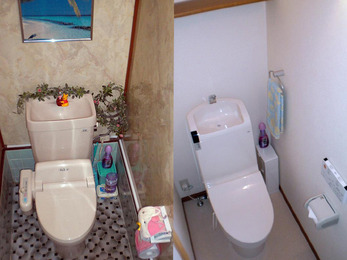 フェア特価品獲得でトイレ空間全面改善。