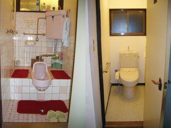 介護保険を申請してバリアフリーのトイレに改修。