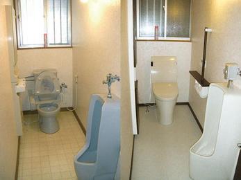 下水切替工事をきっかけにトイレ空間をリニューアル。