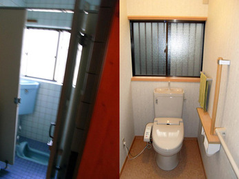 便器2つをひとつに。使い勝手の良いトイレに。