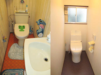 清潔感溢れる明るいトイレになりました。