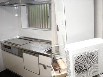 コンパクトで使い易いキッチンを設置。