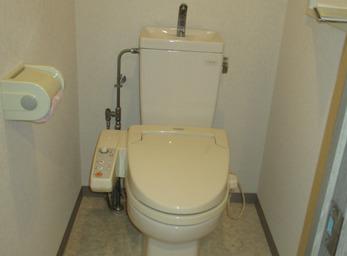 トイレの付け替え施工例。