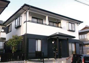 家全体を一気に塗装。まるで新築のお家のように。