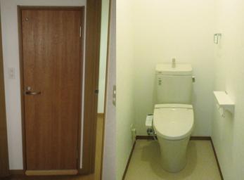 クローゼットをトイレにリニューアル