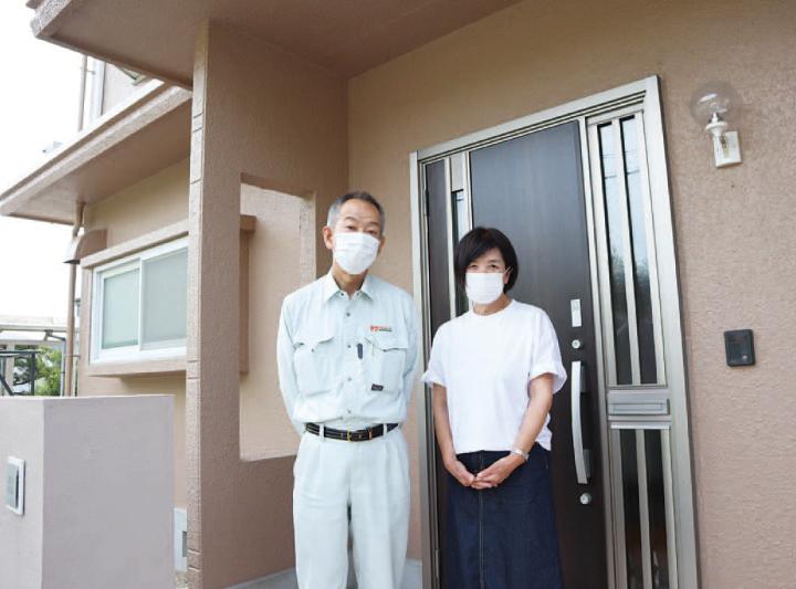 サン 下松  お家の顔を一新して充実のライフスタイルを...。玄関廻りのリフォーム施工例。