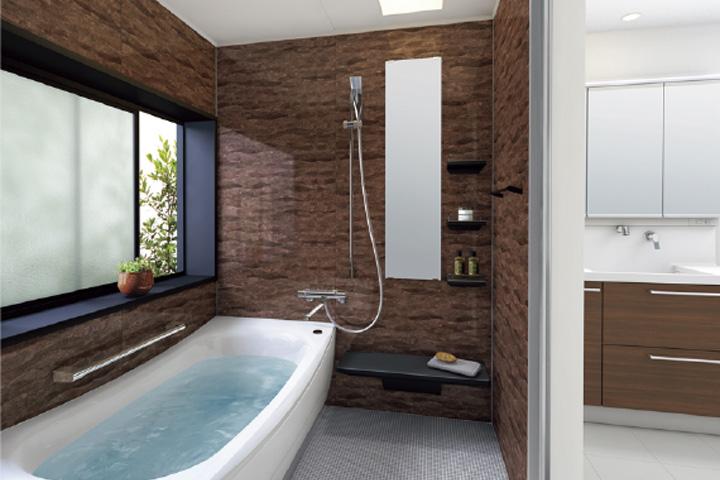 サン 下松  足を伸ばして入浴するのが夢。念願だった浴室のリフォーム施工例。